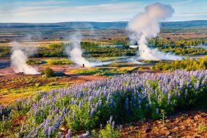 Az izlandi arany körút egyik legismertebb látványossága a Geysir geotermikus terület