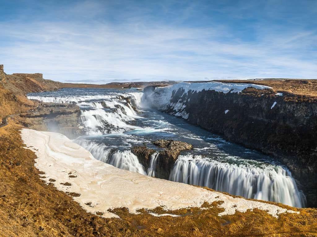Izland Arany Körút - A Gullfoss vízesés