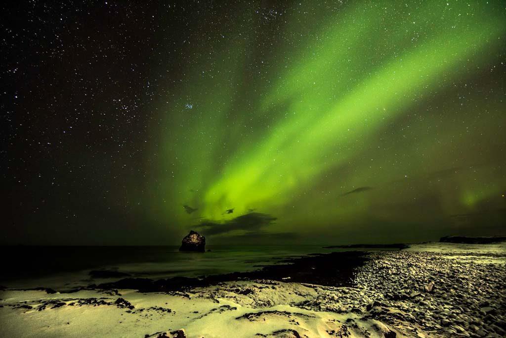 Havazás és sarki fény Izlandon