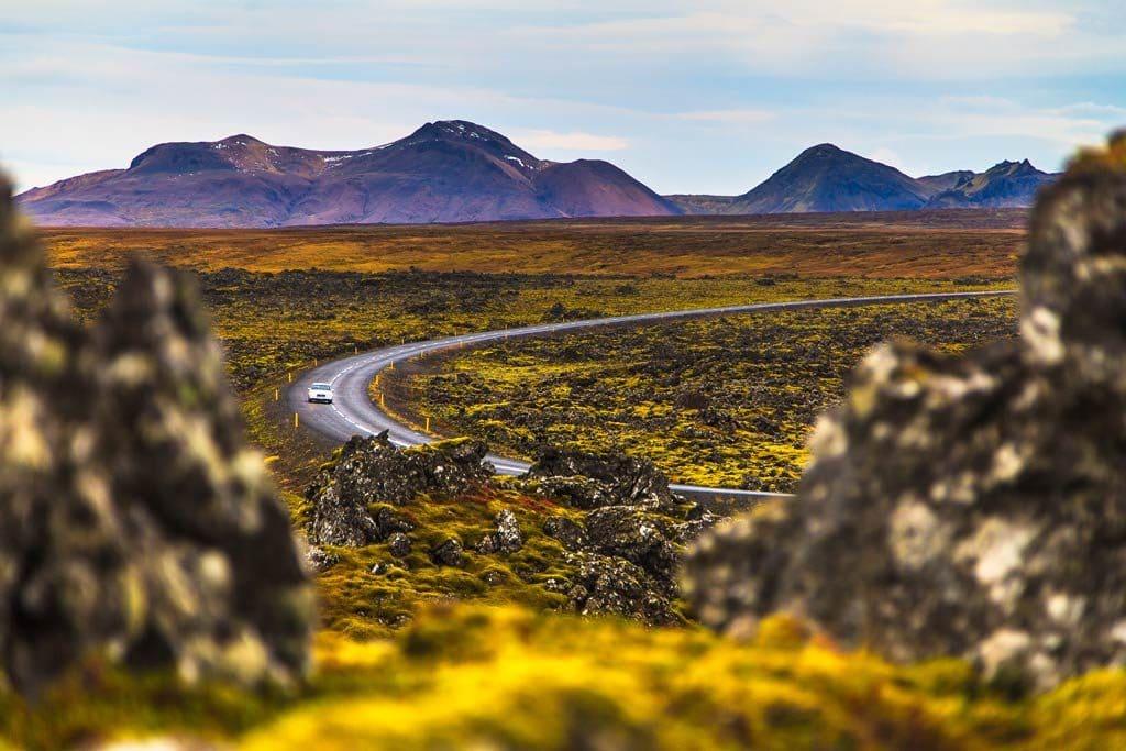 Kanyargós út Izlandon ősszel.