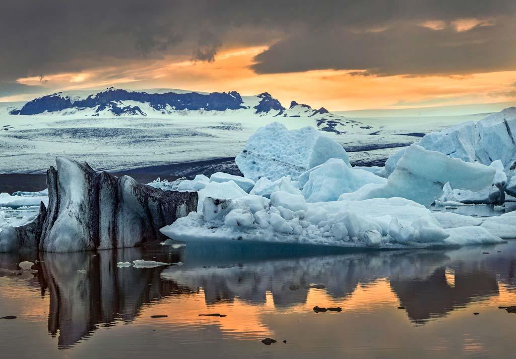 Időjárás Izlandon: éjszaka a Jökulsárlónnál