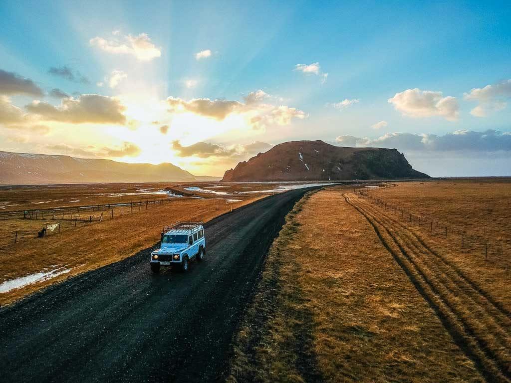 Aranybarna izlandi táj áprilisban
