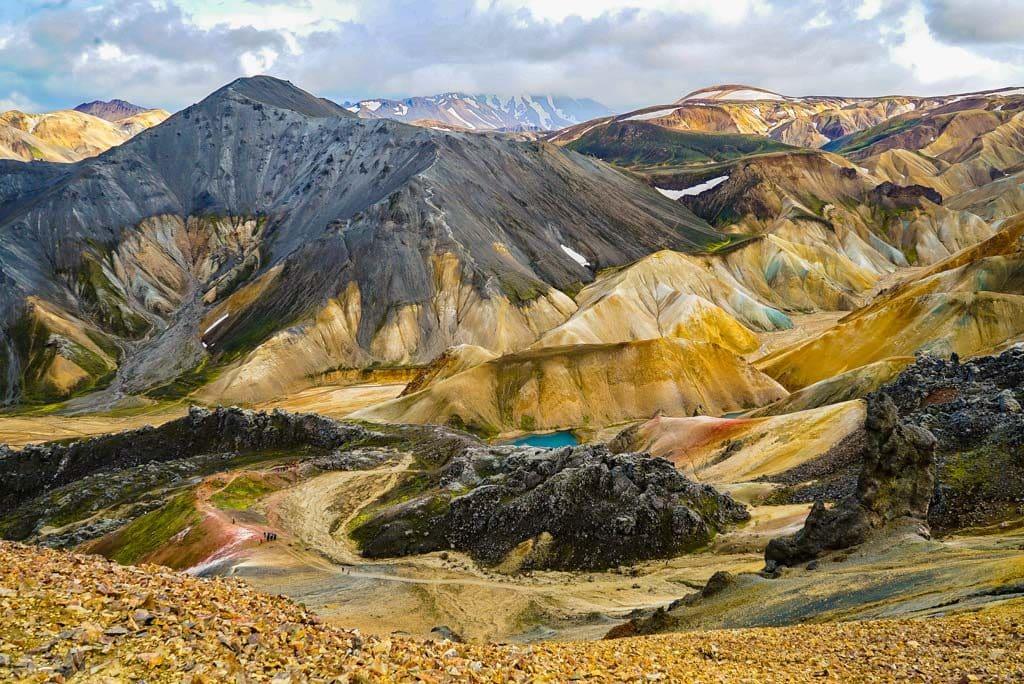Landmannalaugar színes hegyei