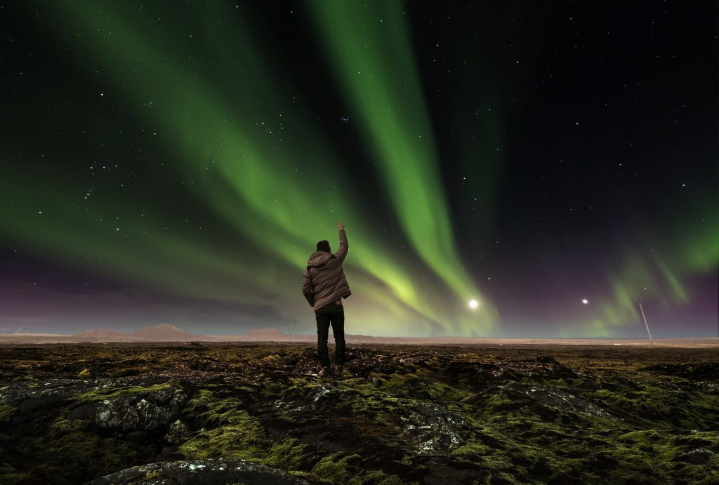 Sarki fény Izlandon ősszel