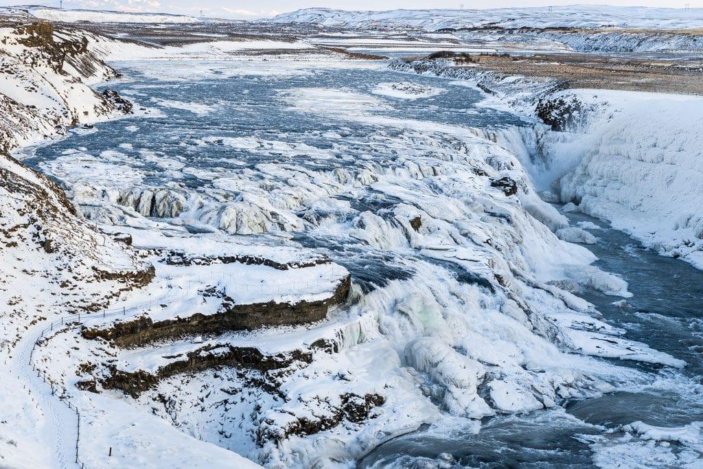Gullfoss vízesés télen