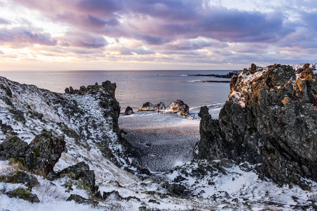 Dupalossandur-part, Snaefellsnes-féelsziget télen