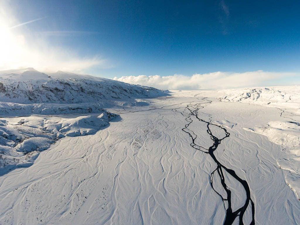 az izlandi felföld télen
