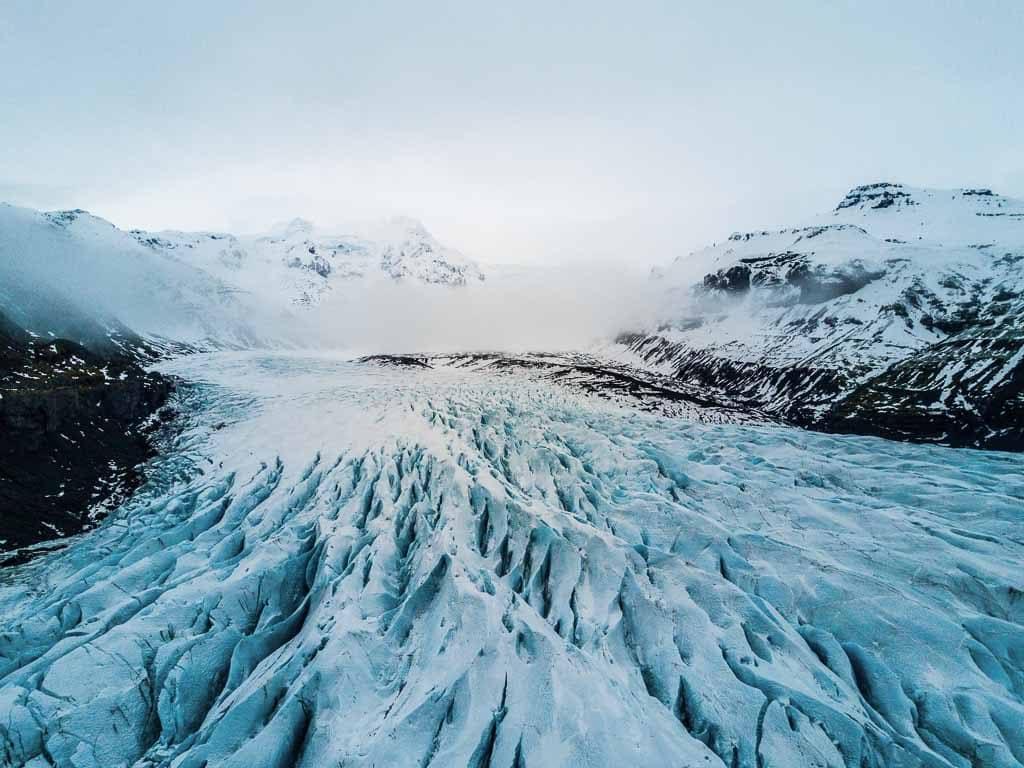Sólheimajökull gleccser Izland