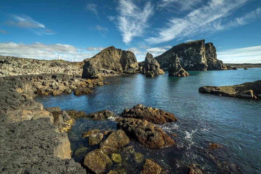 Valahnúkur sziklák a Reykjanes-félszigeten