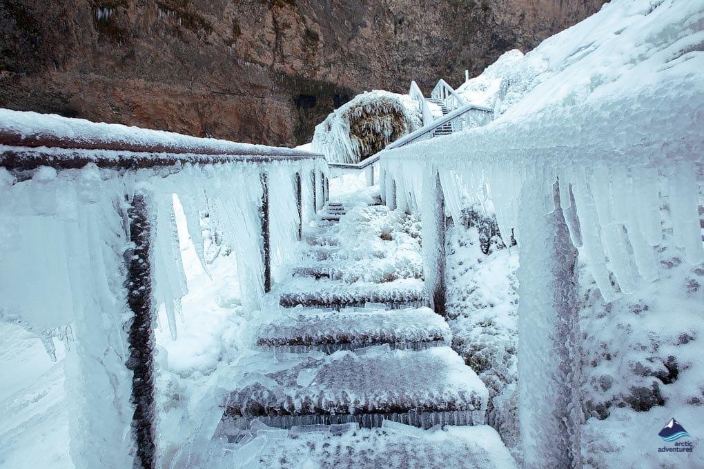 seljalandsfoss vízesés télen