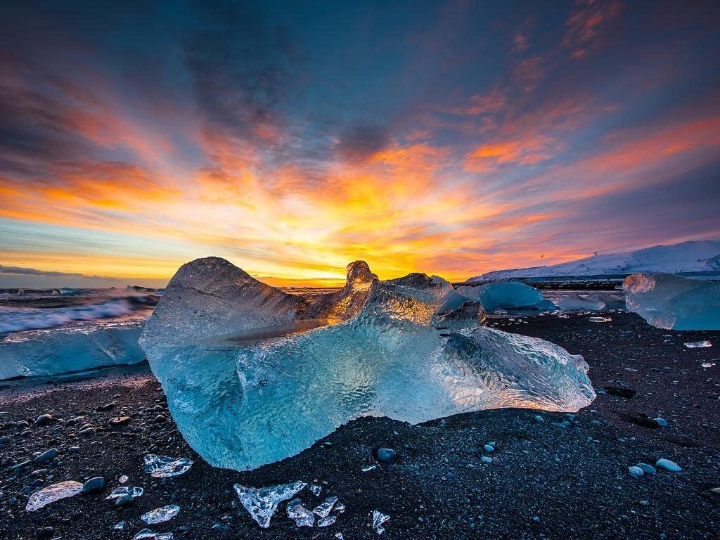 Dél Izland látnivalók - Gyémánt Part