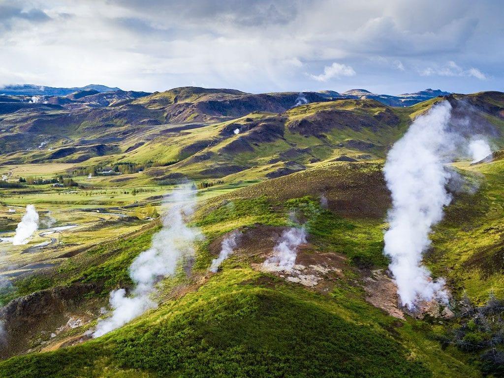 Dél Izland látnivalók: Hveragerdi geotermikus park