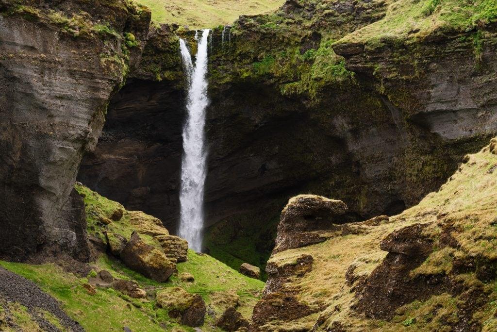 Dél Izland látnivalók - Kvernufoss vízesés