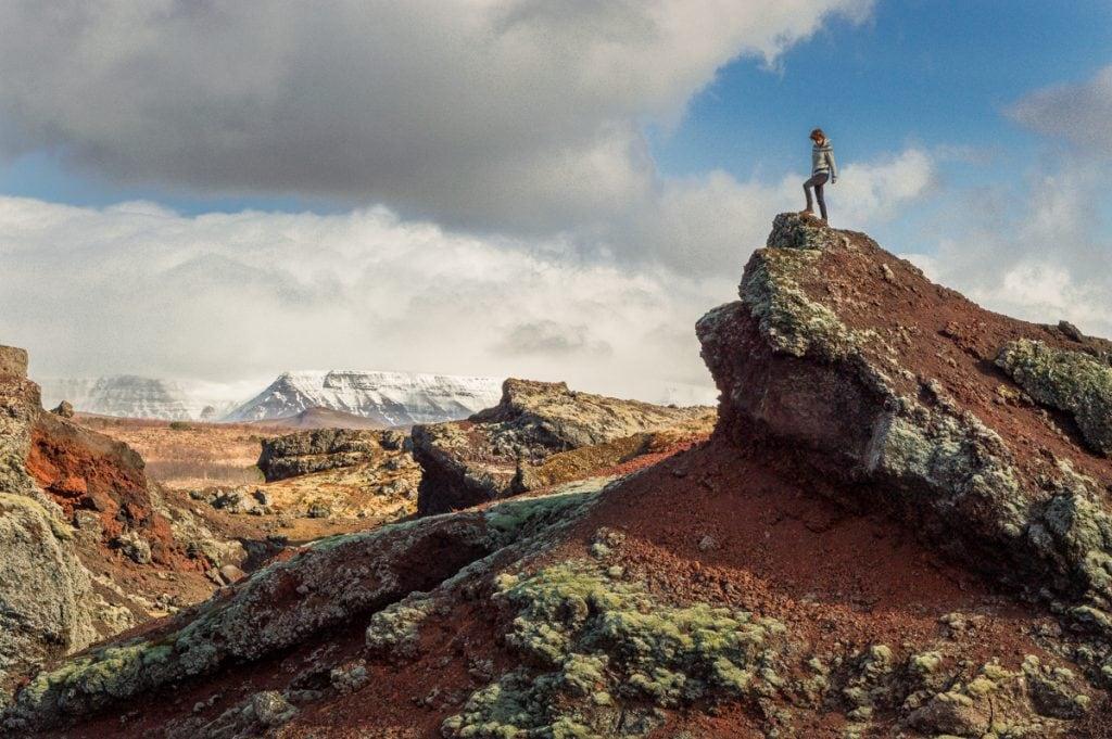 Dél Izland látnivalók - Raudhólar vulkáni dombok