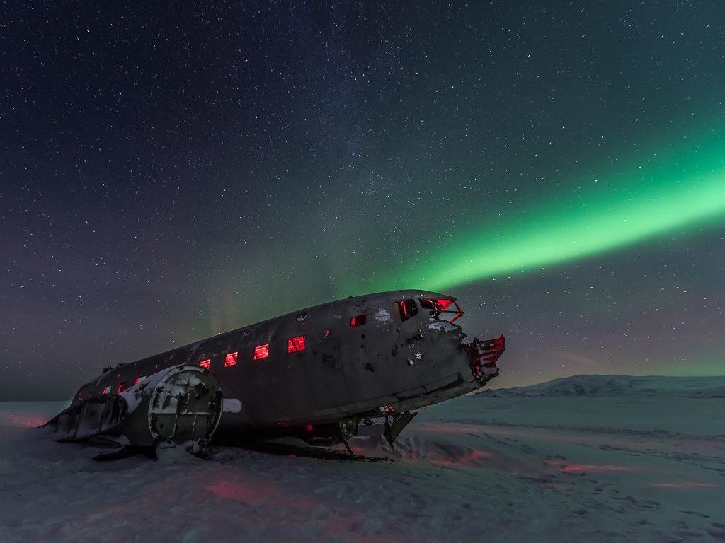 Dél Izland látnivalók - DC-3 repülőgéproncs