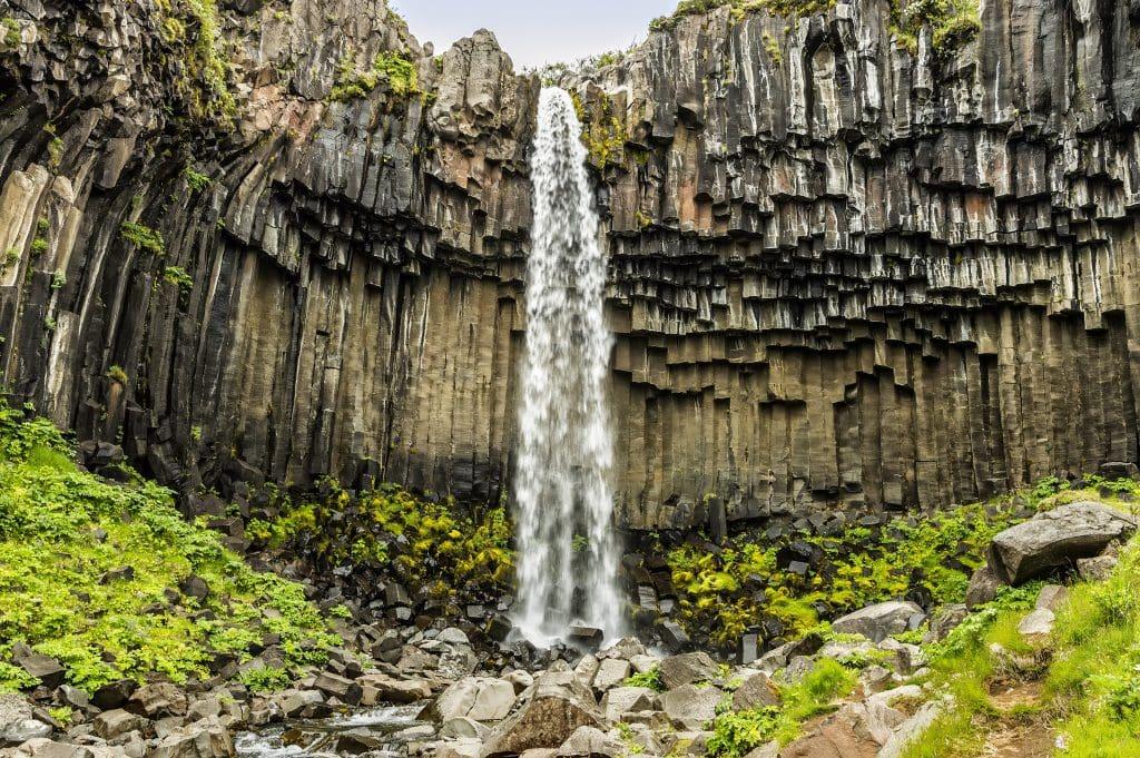 Dél Izland látnivalók - Svartifoss