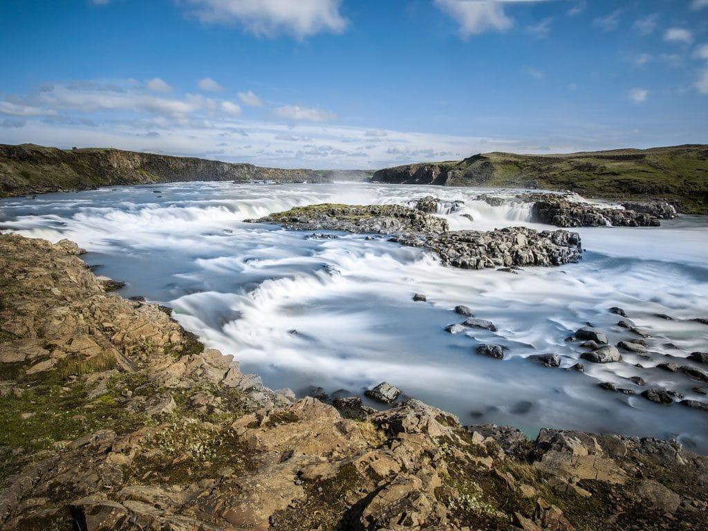 Dél Izland látnivalók - Urridafoss vízesés