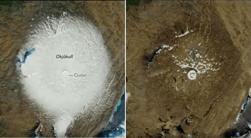 Ok gleccser Izlandon