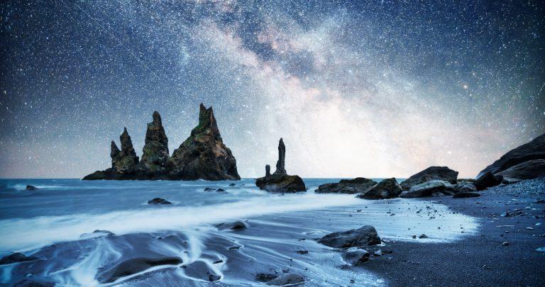 Reynisfjara fekete homokos part Izland