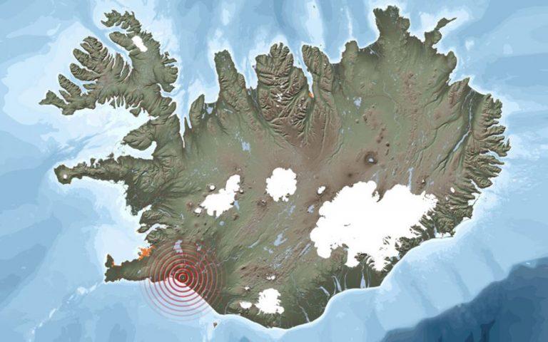 Földrenngés Izlandon