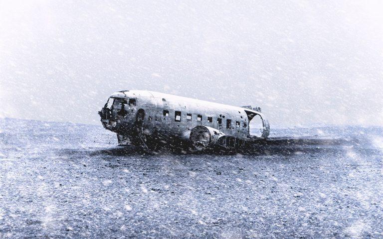 DC-3 repülőgéproncs Izlandon