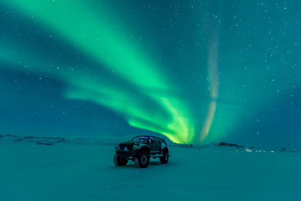 sarki fény túra izland