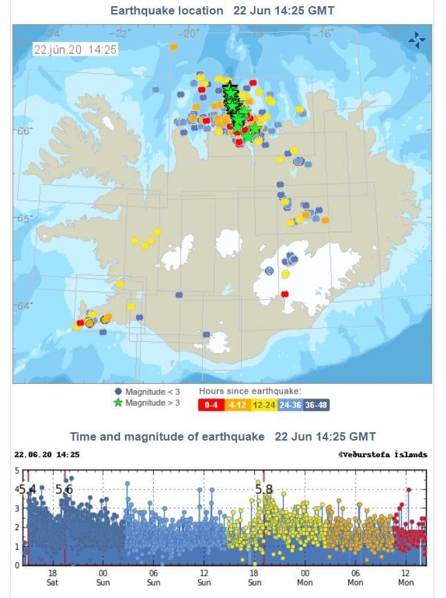 izland földrengés