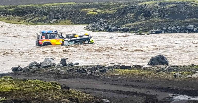 izland folyóátkelés